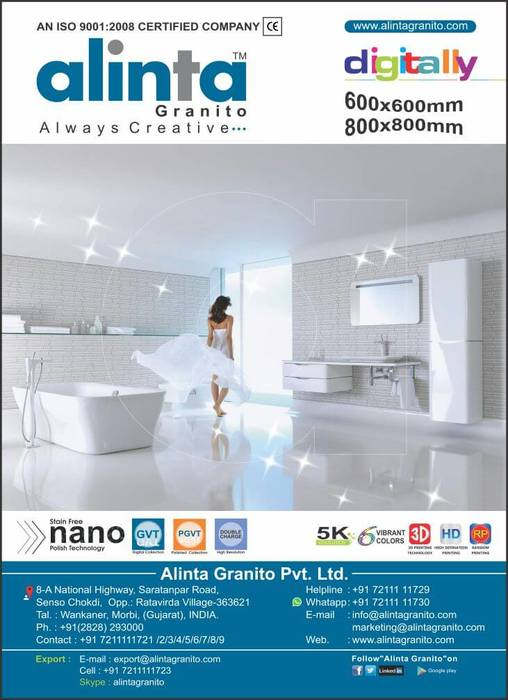 asian granito pvt ltd Varmora granito pvt ltd came into being with a clear vision - to become a global leader in the world of ceramics in span of two decades varmora granito have wide range of ceramic products like digital glazed vitrified tiles, double charge vitrified tiles, fullbody tiles, digital colorbody tiles, soluble salt, techno twin, porcelain tiles.